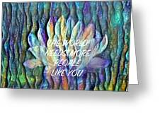 Floating Lotus - The World Needs You Greeting Card