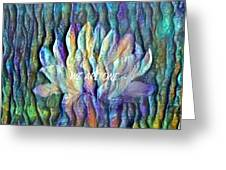 Floating Lotus - We Are One Greeting Card