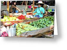 Floating Market In Thailand Greeting Card