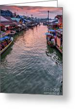 Floating Market Sunset Greeting Card