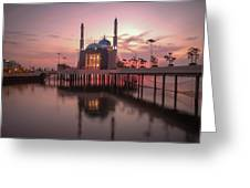 Floating Mosque Greeting Card
