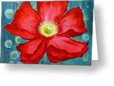Floating Poppy Greeting Card