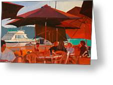 Floating Restaurant Greeting Card