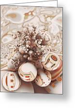 Floating Spheres Greeting Card
