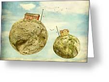 Floating Village Greeting Card