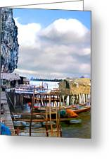 Floating Village Thailand Greeting Card