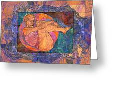 Floating Woman Greeting Card