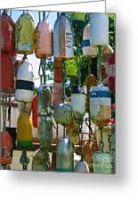 Floats And Buoys II Greeting Card