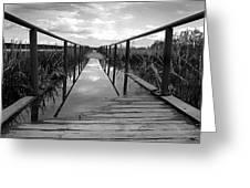 Flooded Bridge Greeting Card