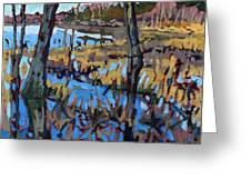 Flooded Land Greeting Card