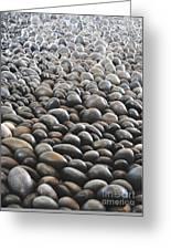 Floor Of Rocks Greeting Card