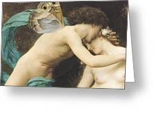 Flora And Zephyr Greeting Card by William Adolphe Bouguereau