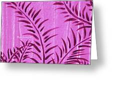 Flora Fauna Tropical Abstract Leaves Painting Magenta Splash By Megan Duncanson Greeting Card
