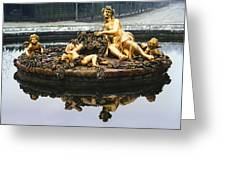 Flora Fountain - Palace Of Versailles Greeting Card