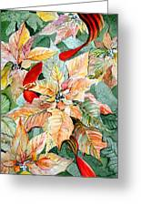 A Peachy Poinsettia Greeting Card