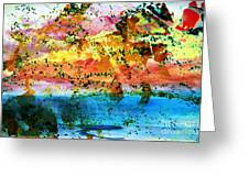 Rustic Landscape Abstract  D2131716 Greeting Card