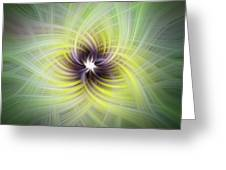 Floral Abstract Square Greeting Card