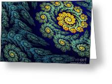 Floral Abyss Greeting Card