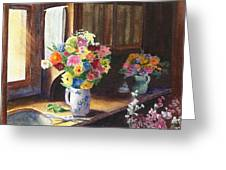 Floral Arrangements Greeting Card