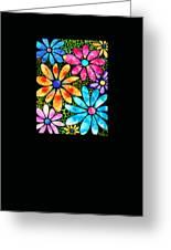 Floral Art - Big Flower Love - Sharon Cummings Greeting Card