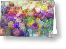 Floral Art Cxi Greeting Card