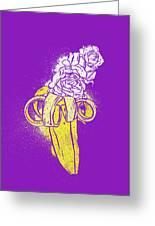 Floral Banana Greeting Card