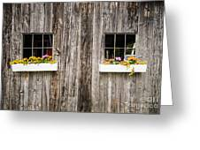 Floral Barn Planters Greeting Card
