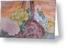 Floral Basket Greeting Card