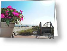 Floral Beach Greeting Card