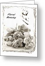 Floral Beauty Greeting Card
