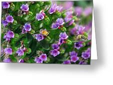 Floral Beehive Greeting Card