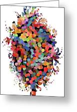 Floral Bouquet Abstract With Dots Greeting Card