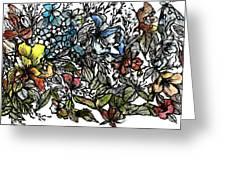 Floral Bush I Greeting Card