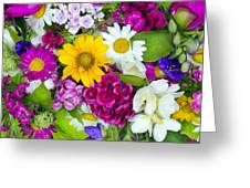 Floral Chaos Summer Collage Greeting Card