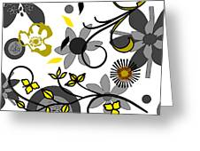 Floral Collision Greeting Card