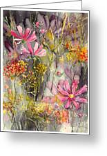 Floral Cosmos Greeting Card
