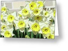 Floral Daffodils Garden Art Prints Floral Bouquet Baslee Troutman Greeting Card