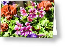 Floral Design 5 Light Greeting Card