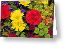 Floral Festival  Greeting Card by Myrna Migala