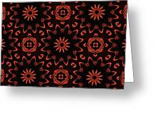 Floral Fire Tapestry Greeting Card