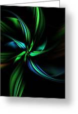 Floral Fractal 040710 Greeting Card