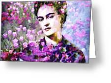 Floral Frida Vi Greeting Card