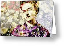 Floral Frida Vii Greeting Card