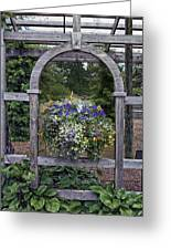 Floral Garden View Greeting Card