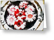 Floral Hotty Totty Greeting Card