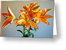 Floral Impression Greeting Card