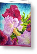 Floral In Pinks Greeting Card