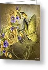 Yellow Floral Greeting Card
