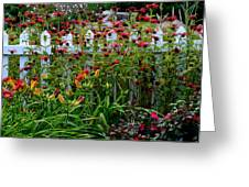 Floral Landscape Greeting Card