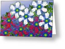 Floral Madness 2 Greeting Card